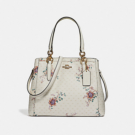 COACH F31419 MINETTA CROSSBODY WITH MINI MAGNOLIA BOUQUET PRINT CHALK-MULTI/LIGHT-GOLD
