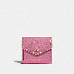 COACH F31425 Small Wallet With Rivets B4/ROSE