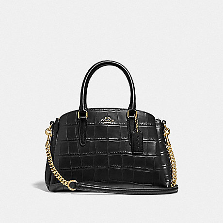 COACH F31438 MINI SAGE CARRYALL BLACK/LIGHT-GOLD