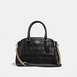 COACH F31438 - MINI SAGE CARRYALL BLACK/LIGHT GOLD