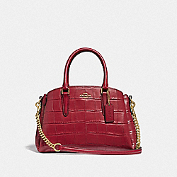 COACH F31438 - MINI SAGE CARRYALL CHERRY /LIGHT GOLD