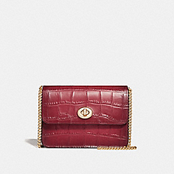 COACH F31439 - BOWERY CROSSBODY CHERRY /LIGHT GOLD