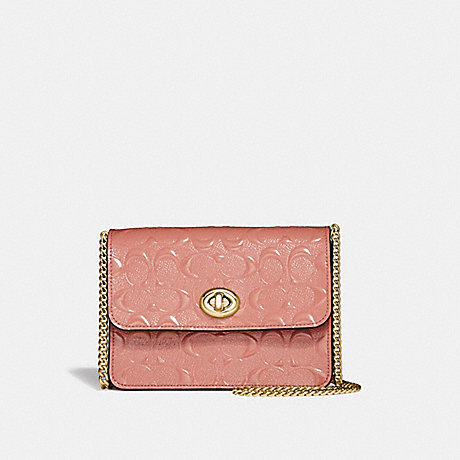 COACH F31440 BOWERY CROSSBODY IN SIGNATURE LEATHER MELON/LIGHT-GOLD