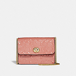 COACH F31440 - BOWERY CROSSBODY IN SIGNATURE LEATHER MELON/LIGHT GOLD