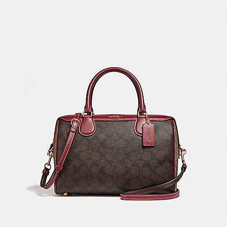 COACH F31448 LARGE BENNETT SATCHEL IN COLORBLOCK SIGNATURE CANVAS KHAKI/BROWN-MULTI/LIGHT-GOLD