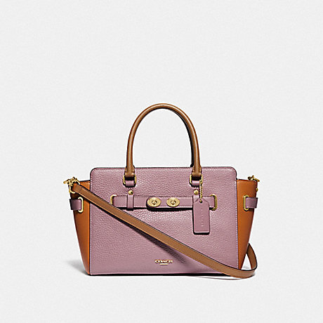 COACH F31456 BLAKE CARRYALL 25 IN COLORBLOCK DUSTY ROSE/ORANGE MULTI /GOLD
