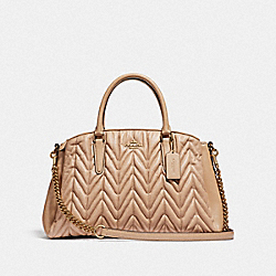 COACH F31457 - SAGE CARRYALL WITH QUILTING BEECHWOOD/LIGHT GOLD