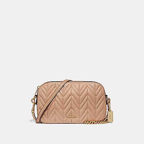 COACH F31459 ISLA CHAIN CROSSBODY WITH QUILTING BEECHWOOD/LIGHT-GOLD