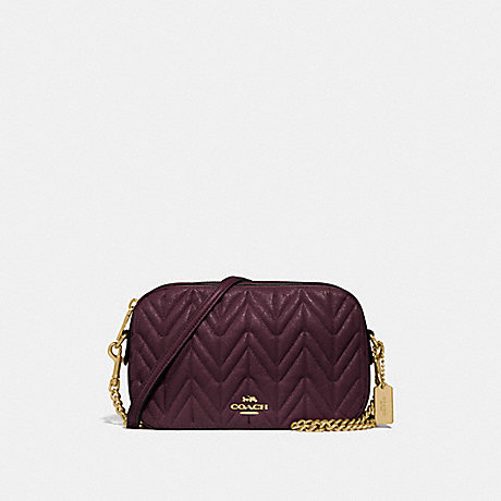 COACH F31459 ISLA CHAIN CROSSBODY WITH QUILTING OXBLOOD 1/LIGHT GOLD