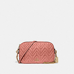 COACH F31459 Isla Chain Crossbody With Quilting MELON/LIGHT GOLD