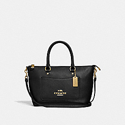 COACH F31466 Mini Emma Satchel BLACK/LIGHT GOLD