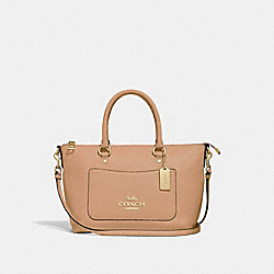 MINI EMMA SATCHEL - F31466 - BEECHWOOD/GOLD
