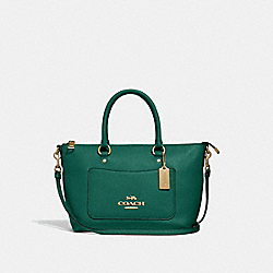 COACH F31466 Mini Emma Satchel JADE
