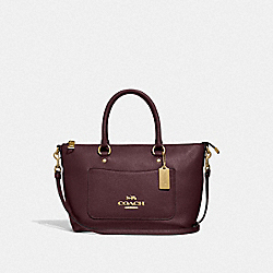 MINI EMMA SATCHEL - F31466 - OXBLOOD 1/LIGHT GOLD