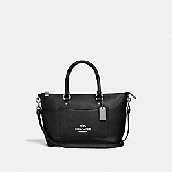 COACH F31466 - MINI EMMA SATCHEL BLACK/SILVER