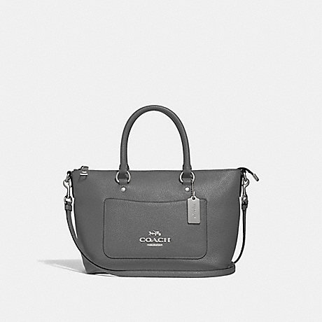 COACH F31466 MINI EMMA SATCHEL HEATHER GREY/SILVER