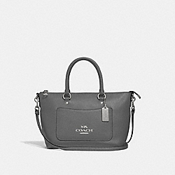 MINI EMMA SATCHEL - F31466 - HEATHER GREY/SILVER