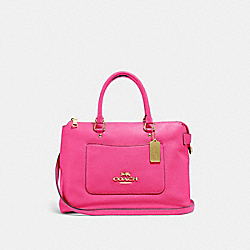 COACH F31467 Emma Satchel PINK RUBY/GOLD
