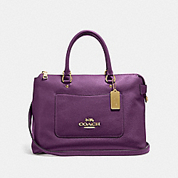 COACH F31467 Emma Satchel GOLD/BLACKBERRY