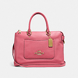 EMMA SATCHEL - f31467 - PEONY/light gold
