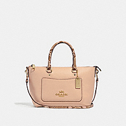 MINI EMMA SATCHEL - f31470 - BEECHWOOD/light gold