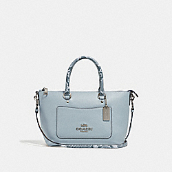 MINI EMMA SATCHEL - f31470 - SILVER/PALE BLUE