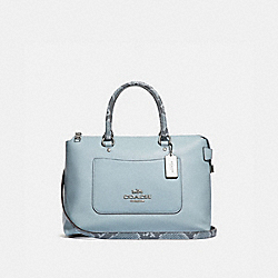 COACH F31471 Emma Satchel SILVER/PALE BLUE