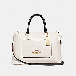 COACH F31473 Emma Satchel CHALK MULTI/LIGHT GOLD