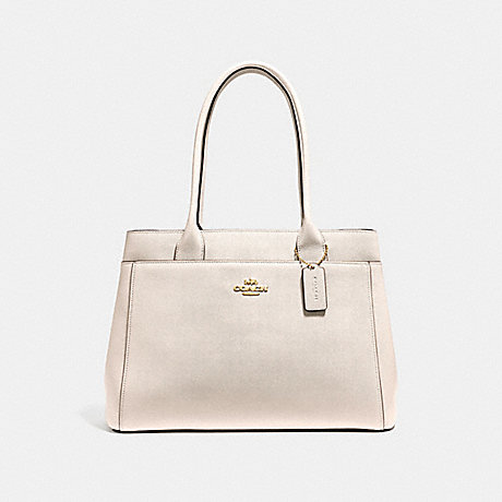 COACH f31474 CASEY TOTE CHALK/LIGHT GOLD