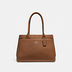 CASEY TOTE - F31474 - SADDLE 2/LIGHT GOLD