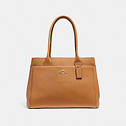 CASEY TOTE - f31474 - LIGHT SADDLE/IMITATION GOLD