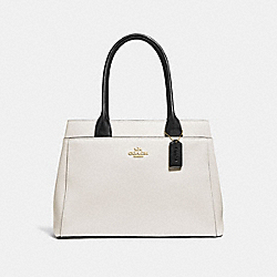CASEY TOTE - F31476 - CHALK MULTI/LIGHT GOLD