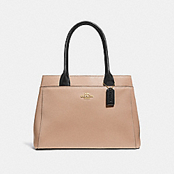 CASEY TOTE - F31476 - BEECHWOOD/BLACK/LIGHT GOLD