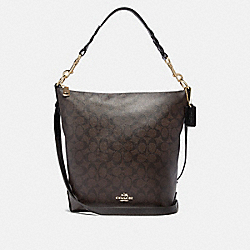 COACH F31477 - ABBY DUFFLE IN SIGNATURE CANVAS BROWN/BLACK/LIGHT GOLD