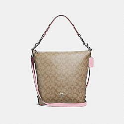 COACH F31477 - ABBY DUFFLE IN SIGNATURE CANVAS LIGHT KHAKI/CARNATION/SILVER