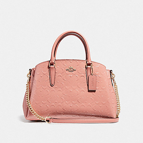 COACH F31486 SAGE CARRYALL IN SIGNATURE LEATHER MELON/LIGHT-GOLD