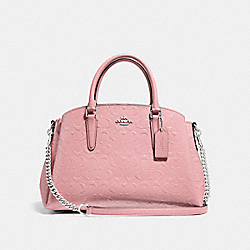 SAGE CARRYALL IN SIGNATURE LEATHER - PETAL/SILVER - COACH F31486