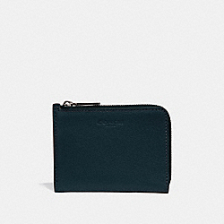 COACH F31489 L-zip Wallet MIDNIGHT NAVY/BLACK ANTIQUE NICKEL