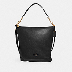 ABBY DUFFLE SHOULDER BAG - f31507 - BLACK/IMITATION GOLD