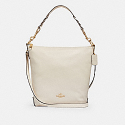 ABBY DUFFLE SHOULDER BAG - f31507 - CHALK/IMITATION GOLD
