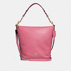 ABBY DUFFLE - F31507 - STRAWBERRY/LIGHT GOLD