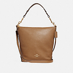 ABBY DUFFLE SHOULDER BAG - f31507 - LIGHT SADDLE/IMITATION GOLD