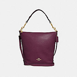 ABBY DUFFLE - F31507 - RASPBERRY/LIGHT GOLD
