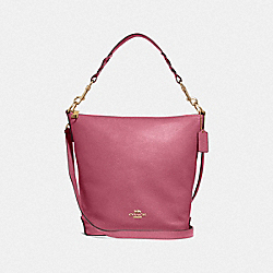 ABBY DUFFLE - F31507 - ROUGE/GOLD