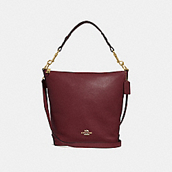 ABBY DUFFLE - F31507 - WINE/IMITATION GOLD