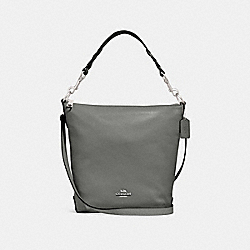 COACH F31507 Abby Duffle Shoulder Bag HEATHER GREY/SILVER