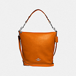 ABBY DUFFLE - F31507 - DARK ORANGE/SILVER