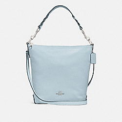 ABBY DUFFLE SHOULDER BAG - f31507 - SILVER/PALE BLUE