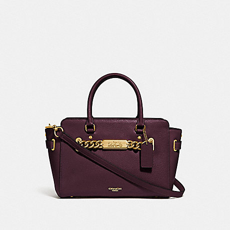 COACH F31525 BLAKE CARRYALL 25 OXBLOOD-1/LIGHT-GOLD