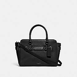 COACH F31525 - BLAKE CARRYALL 25 BLACK/BLACK ANTIQUE NICKEL